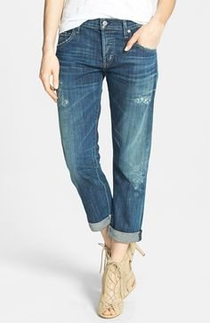 Citizens of Humanity 'Dylan' Distressed Straight Leg Jeans | @nordstrom