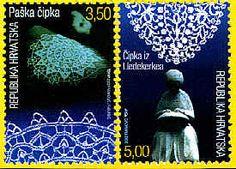 2 Stamps Croatie and 2 Stamps Belgique