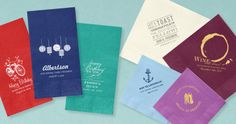 Custom Party Napkins - So many colorful options!