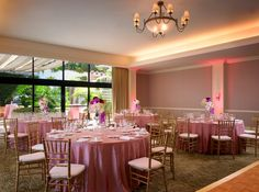 The Westin South Coast Plaza, Orange County weddings, indoor weddings, dinner reception, centerpieces, linens, uplighting, white and pink, wedding decor, #thewestinscp #twscp #westinweddings #southcoastplaza #thewestin