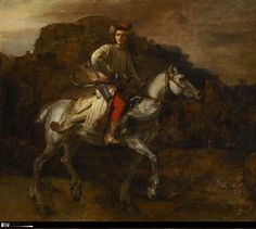 Attributed to Rembrandt, The Polish rider, c. 1655. New York City (United States), The Frick Collection