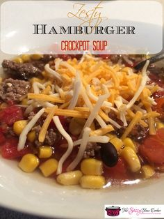 Warm up with this delicious Crockpot Hamburger Soup! It's tasty and you can even freeze it.