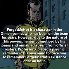 Poor guy  #xmen #forgetmenot by marvelousfacts