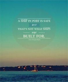 a ship isn't built to be safe