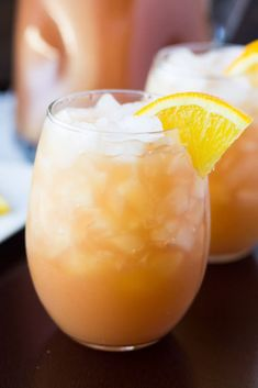 Apple juice, cranberry juice and orange juice make this the mother of all mocktails. Check out the recipe here.