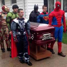 Boy Gets Superhero Funeral After Cancer Death. A 5-year-old Indiana boy's love of Spider-Man inspired his mother to ask for a superhero funeral after he died from a brain tumor. Adults dressed as Spider-Man, Superman and the Incredible Hulk were among the pallbearers for Brayden Denton's funeral last week in the Newton County town of Kentland in northwestern Indiana.