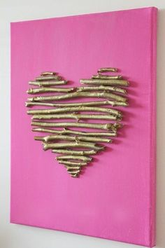valentine decorations 9992430397565615 - diy heart canvas Source by Valentines Bricolage, Valentine Day Crafts, Valentine Decorations, Heart Decorations, Heart Canvas, Heart Art, Diy And Crafts, Crafts For Kids, Arts And Crafts