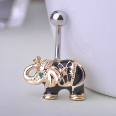 Elephant Belly Button Rings Piercing Fine or Fashion: Fashion Item Type: Body Jewelry Style: Trendy Body Jewelry Type: Navel & Bell Button Rings Material: Lucite Metals Type: Tin Alloy Shape\pattern: