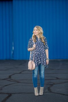 Spring Fashion: Swingy Floral Top