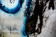 Abstract Wall Art - Aluminium Print - Modern Artwork - Blue & Rough Fine Art - Abstract Art Photography