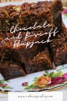 Delicious and super easy chocolate and biscoff flapjack