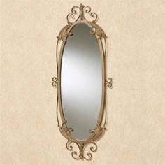Savelli Oval Wall Mirror Satin Gold