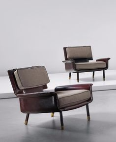 Jacques Quinet; Lounge Chairs from His Corsica Apartment, c1965.