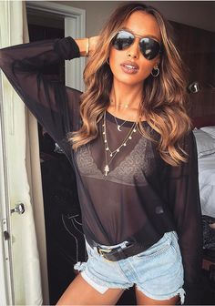 Jasmine Tookes during Coachella on April 14, 2017