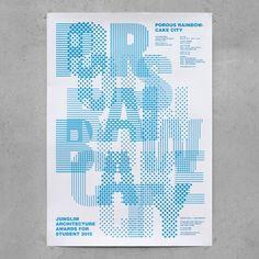 poster for Junglim Foundation - Junglim Architecture Awards 2015 - studio fnt
