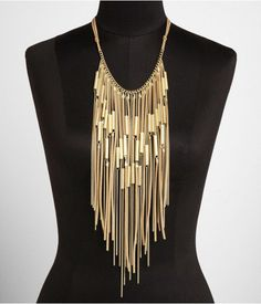 Express gold suede fringe necklace similar to one worn by Colbie Caillat on a Today Show