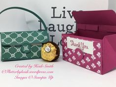 So there are lots of different handbag style boxes out there – but I couldn't resist making my own, specially sized for two Ferrero. I am loving the new Fresh Florals DSP with t…