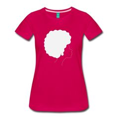 """All Natural. Is a collection of Alasdesigns illustrations. """"All natural"""" depicts a silhouette of a woman in natural hair sytle. The artist's inspiration is derived from his love of nature and the beau Natural Accessories, Natural Women, Natural Hair Styles, Shirt Designs, V Neck, T Shirts For Women, Tops, Silhouette, Illustrations"""