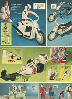 Evel Knievel play sets from 1975