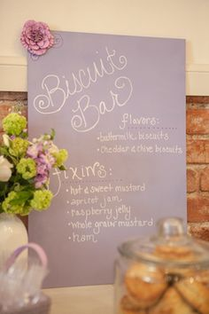 Set up a biscuit bar where party guests can add different toppings to their biscuits.