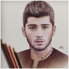 Zayn Malik drawing by @emstyles0253 amazing work ❤️