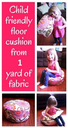 DIY Home Sweet Home: Floor Cushion From 1 Yard of Fabric