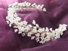 White tiara made with more then thousand shiny crystals. Fully hand made. World wide shipping. For order - DM. White tiara made with more then thousand shiny crystals. Fully hand made. World wide shipping. For order - DM. Wedding Headband, Bridal Tiara, Bridal Headpieces, Bridal Headdress, Handmade Wedding Jewellery, Wedding Jewelry, Hair Beads, Hair Ornaments, Wedding Hair Accessories