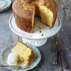 Orange Chiffon Cake with Buttermilk Ice Cream Recipe - Country Living