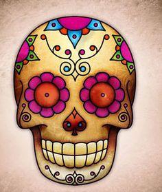 Caveira mexicana.. Para os mexicanos significa vida