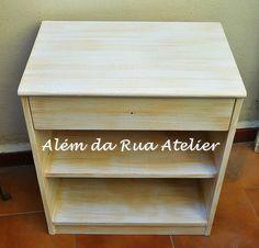 Pátina em móvel de madeira - Faça você mesmo by ALÉM DA RUA ATELIER/Veronica Kraemer, via Flickr