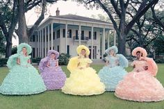 Mobile Azalea Trail maids - my sister was a Trail Maid. She had a gorgeous lavender dress. They each design their own! ~R