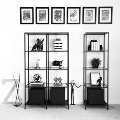 Instagram @grayglow | Shelfie | Shelf styling | Shelf decor | Home decor | Nordic decor | Nordic inspiration | Black and white | Modern decor | IKEA Vittsjö shelves | Comic Books | Nerd decor | Fall decor | Fall decorating | Monochrome
