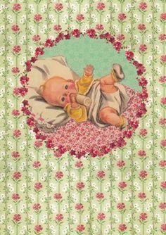 It's a Girl. Postkarte von Froy & Dind