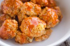 Light Crock Pot Buffalo Turkey Meatballs are an easy recipe made in your slow cooker. Lean ground turkey with bleu cheese is tossed in buffalo sauce.