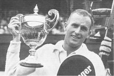 Neale Fraser - Neale Andrew Fraser AO MBE is a former number one amateur male tennis-player from Australia, born in Melbourne, Victoria, the son of a Victorian judge. Australian Tennis, Tennis Legends, Melbourne Victoria, Wimbledon, Tennis Players, Cups, October, Victorian, Number