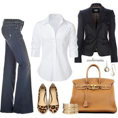 D blazer, Steffen Schraut blouse, Mother Denim jeans, Hermes Birkin bag