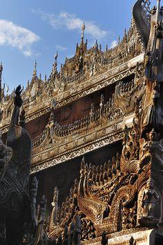 Shwenandaw Kyaung Temple, Mandalay, Myanmar
