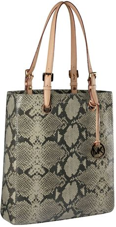 My new briefcase :)  Michael Kors Exclusive Macbook Python-Embossed Tote