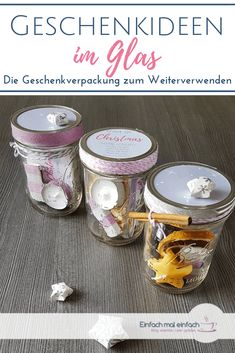 Geschenkideen im Glas – Presents for boyfriend diy Diy Gifts For Girlfriend, Boyfriend Gifts, Diy Birthday, Birthday Cards, Herbal Oil, Gifts For Boys, Pin Collection, Diy And Crafts, Upcycle