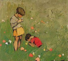 1925Frédéric Fiebig (Latvian, 1885-1953) ~ Enfants dans le Pré.    (via myaloysius)    Tags: Frédéric Fiebig
