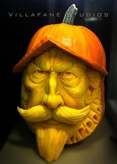 Don Quixote Pumpkin Sculpture/Carving by Ray Villafane Pumpkin Art, Best Pumpkin, Pumpkin Faces, Pumpkin Crafts, Creepy Pumpkin, Pumpkin Painting, Awesome Pumpkin Carvings, Pumkin Carving, Food Carving