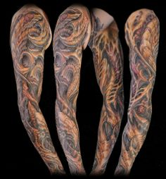 organic bio tattoo sleeve