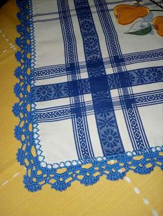 Crochet Boarders, Crochet Lace Edging, Crochet Trim, Crochet Doilies, Crochet Stitches, Knit Crochet, Knit Patterns, Crochet Projects, Diy And Crafts