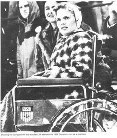 Jill at the 1956 Olympics in Cortina, Italy