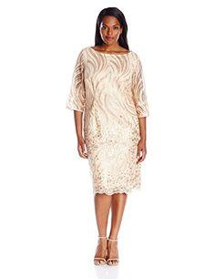 Brianna Women's Plus-Size Border Pattern Sequin Embroider…