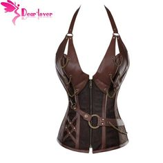 Steampunk Corset Top With G-string
