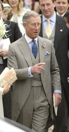 Prince Charles, Prince of Wales during Laura Parker Bowles and Harry Lopes – Wedding at St Cyriac's Church in Lacock, Great Britain.