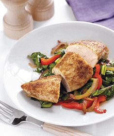 Spiced Chicken With Collard Green Sauté