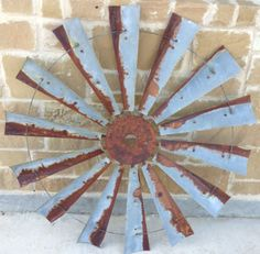 47-Rustic-Vintage-Windmill-Country-Barn-Farmhouse-Wall-Decor-Head-Fan