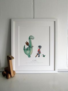 A Dinosaur who wants to be a Dragon  Kids by DaisyandBumpArt, £25.00